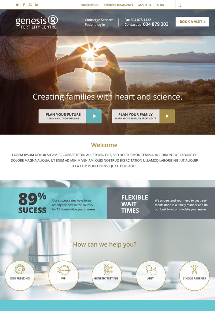 Poster for Genesis Fertility Clinic